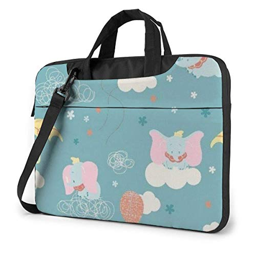 Lsjuee 13 Inch Laptop Bag Lovely Dumbo Laptop Briefcase Shoulder Messenger Bag Case Sleeve