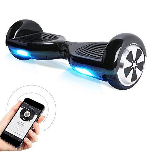TOEU Hoverboard, 6.5 Zoll Self Balance Scooter mit LED Lights Elektro Scooter E-Skateboard (White)*
