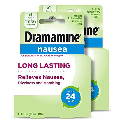 Dramamine-N Long Lasting Formula Nausea Relief   10 Count   2 Pack