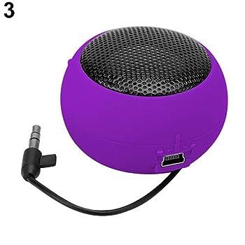 Mini Speaker Portable Hamburger Amplifier for iPod iPad Laptop iPhone Tablet PC - Purple