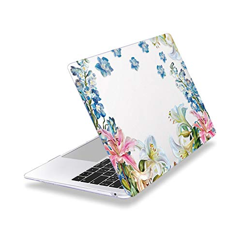 Doble dulce cristal flores caso para MacBook Air 13 pulgadas A1932 A2179 2020 Pro Retina 13 15 16 Touch bar A2141 A2159 A2289 A2251 cubierta-Z333-modelo (A1278)