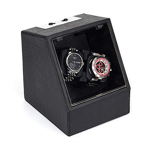 ZFF Uhrenbeweger 2 Mechanisch Uhren, Watch Winder Leiser Motor Batterie Angetrieben Und Wechselstrom Doppelt Automatische Uhrenbox (Color : D)
