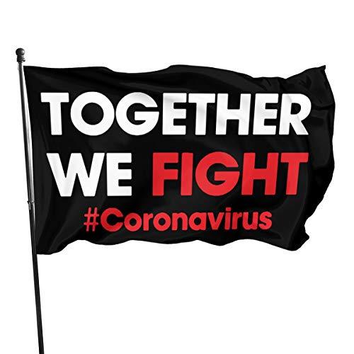 Mrscsefid American Flag by U.S. Veterans Owned Together We Fight Coronavirus Flag 3x5 Ft