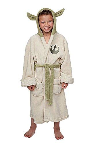 Kostor Yoda Ears Fleece Bademantel Kinder Cosplay Kostüm