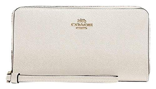 Coach Womens Large Phone Wallet Chalk/Gold