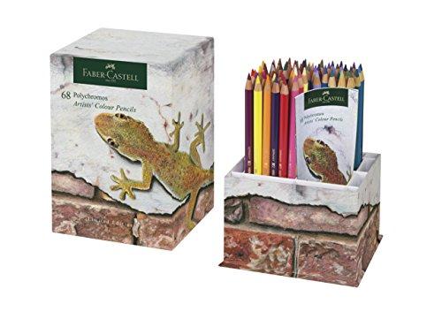 Faber-Castell Polychromos de edición limitada de lápices de colores Lápices de colores con punta de taza de 68, resistente a golpes. vibrantes de alta calidad en un contenedor de almacenamiento