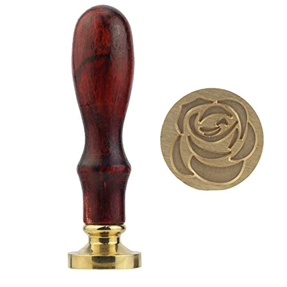 Blummy Wax Seal Stamp with Retro Brass Head Wooden Handle, Great for Cards Envelopes, Invitations, Wine Packages (Color 1)