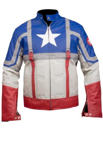 Chaqueta De Estilo Vengador Capitán América