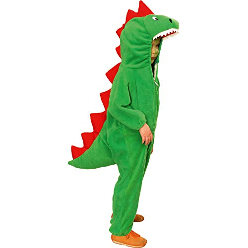 NET TOYS Original Disfraz de Dinosaurio para niño - Verde 99 - 104 cm