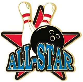 Bowling Lapel Pins - Bowling All Star Enamel Pins Prime