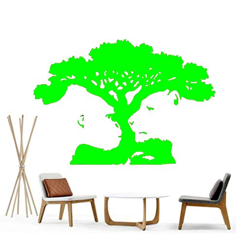 Tiger Monkey Tree Illusion Nursery Playroom Girls Boys Dormitorio Etiqueta de la pared Art Decal Transfer Mural Stencil Decorations Sticker green 42x63cm