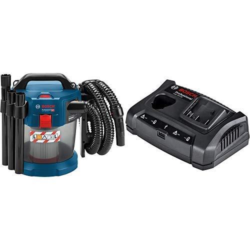 Bosch Professional Akku-Staubsauger GAS 18V-10 L + 1600A011A9 GAX 30 Ladeger\x{00E4}t mit USB-Ladebuchse, Wandstativhalterung, Karton (Akkuladespannung: 10,8, Ladestrom 3,0 Ah), 18 V
