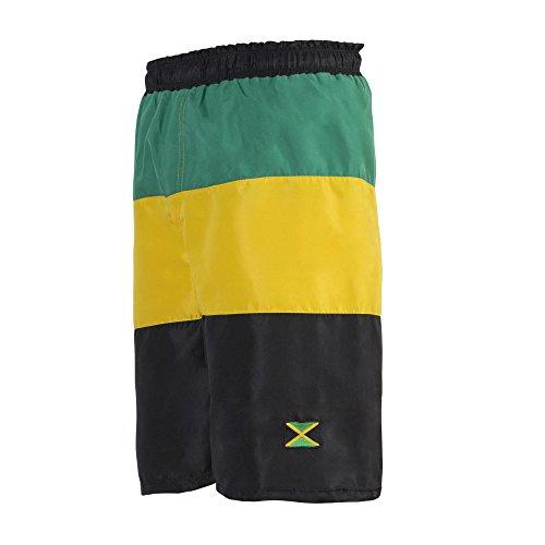 Reggae Maillots De Bain Cruise Hommes Sports Pantalons Jamaïque Bermuda Plage - S