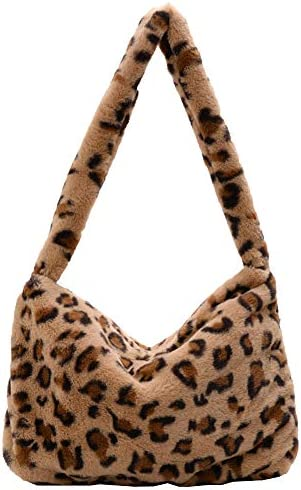 Plush Underarm Bag Kexle Ladies Fluffy Shoulder Bag Women Furry Plush Handbag for Autumn and product image