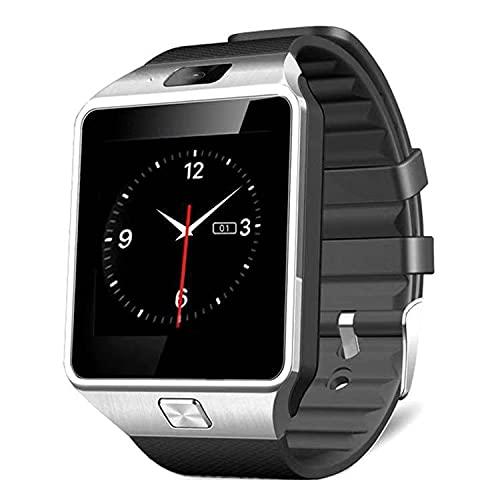 Zwbfu DZ09 Tarjeta de Reloj Inteligente Tarjeta de Reloj Bluetooth Sports Sleep Monitoring Función de música(inglés Negro)