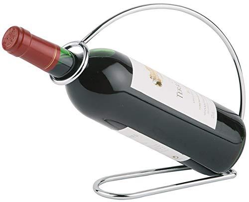 APS Soporte para Botellas de Vino - Soporte de Metal,portabotellas de Metal, portabotellas de Vino, Cromado, 6 x 23 cm, Altura: 20 cm