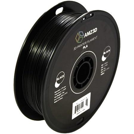 1.75mm Black PLA 3D Printer Filament 1kg Spool 2.2 lbs - Dimensional Accuracy +//- 0.03mm