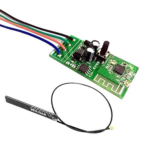 CareMont Puerta de Cerradura ElectróNica de Interruptor Inteligente WiFi 12V para AplicacióN EWelink Funciona con los MóDulos de AutomatizacióN del Hogar Inteligente Alexa/Home