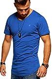 JACK & JONES Herren T-Shirt Kurzarmshirt Oversize Longshirt Basic V-Neck (X-Large, Surf The Web)