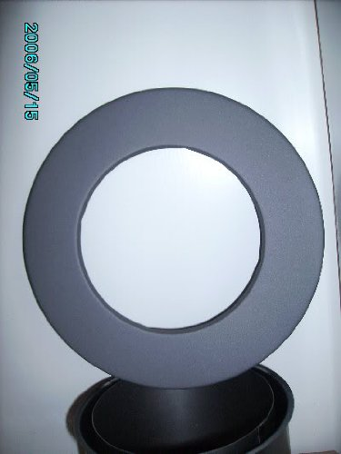 Rosette 150mm Kaminofen Ofenrohr,gussgrau, Rauchrohr