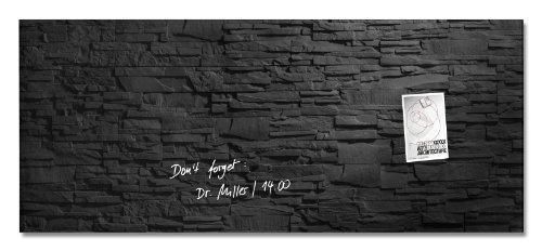SIGEL GL249 Großes Glas-Magnetboard 130 x 55 cm Motiv Schiefer-Stone / Magnettafel Artverum - weitere Designs