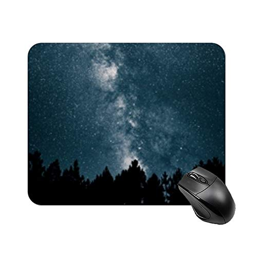 """Yilooom Starry Sky Milky Way Stars Night Rectangle Non Slip Rubber Mousepad Gaming Mouse Pad 9""""x7"""""""
