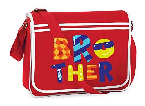 Druckerlebnis24 Schultertasche - Brother Bruder Familie Sonnenbrille - Umhängetasche, geeignet für Schule Uni Laptop Arbeit