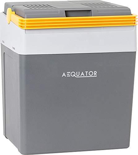 Aequator Tragbarer Kühlschrank, tragbare thermo-elektrische Kühlbox, 28 Liter, 12 V und 230 V für Auto, Thermoelektrische Kühlbox mit Kühl- und Warmhaltefunktion, für Auto, Boot und Camping, Steckdose
