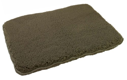 Unreal Lambskin Brute Synthetic Fleece Dog Bed, 30x40, Olive