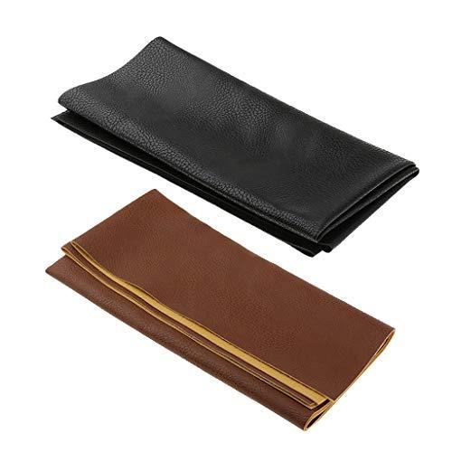Sharplace 2pcs Piel de Hoja de Tejido Cuadrado para Tuercas Bolsa de Costura Artisanal Material 50x 50cm