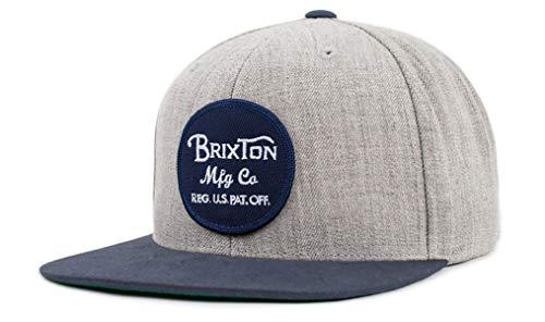 BRIXTON Cap Wheeler Snapback Light Heather Grey Navy