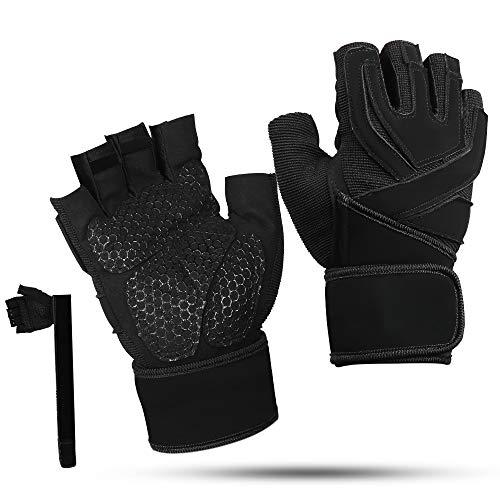 BIFY Fitnesshandschuhe, rutschfeste Handschuhe mit halben Fingern Bodybuilding Sport Gewichtheben Handschuhe für Frauen und Männer, Krafttraining und Bodybuilding, Radfahren,Training ,
