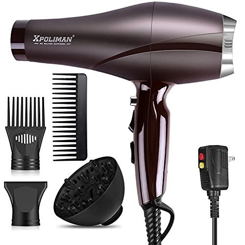 2000 Watt Hair Dryers, Xpoliman Professional Salon Hair Dryer with AC...