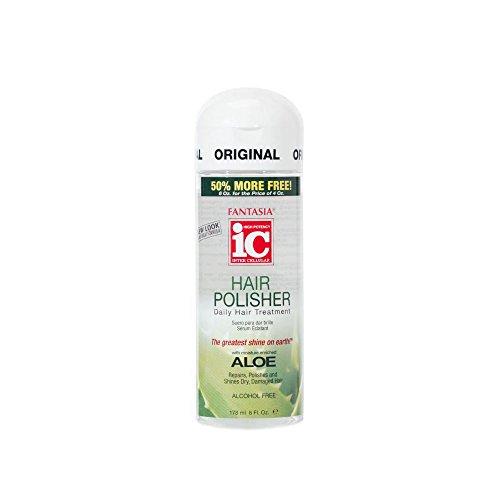 Fantasia IC Aloe Hair Polisher Daily Hair Treatment Serum with ALOE 6oz HP-1993