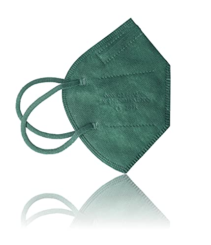 AKA 10x FFP2 Atemschutzmasken EN149:2001A1:2009 & CE2841 zertifiziert I Mund-Nasenschutz bunt I FARBE WÄHLEN (dunkelgrün)