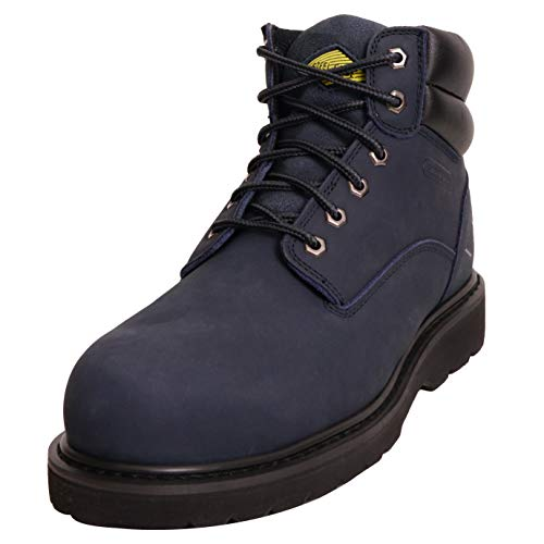 6 Inch Non Slip Steel Toe Work Boots for Men,...