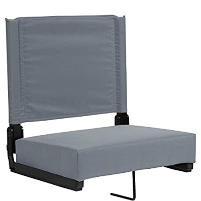Flash Furniture Grandstand Comfort Seats by Flash with Ultra-Padded Seat in Gray