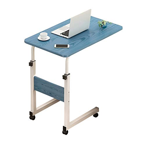 Jlxl Overbed Tables On Wheels, Movable Bedside Height Adjustable Laptop Cart Mobile Computer Desk Sofa, Bed Tray Table For Eating And Nursing Reading Breakfast Furniture