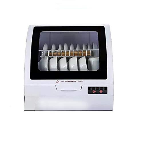 LIUHUI Geschirrspüler Kompakte Arbeitsplatte/Startverzögerung - Tragbarer Geschirrspüler Mit Edelstahl-Innenausstattung Und Hochtemperaturreinigung Und -desinfektion, Weiß