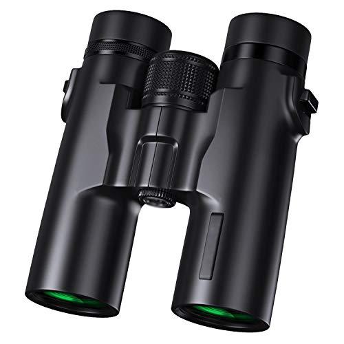 SPTWU Jumelles Telescope 12x42 for Adultes Jumelles HD Professionnelles for Oiseaux Observant des Concerts de Chasse Concerts BAK4 Prism FMC avec Sac de Transport à Courroie