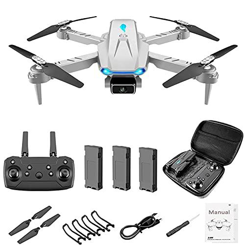 Mini drone S89 con videocamera FPV WiFi 4k per bambini adulti, quadricottero RC con lancio per andare, rotazione automatica, gesti/Waypoint Fly, flip 3D, giocattolo divertente per ragazzi e ragazze, g