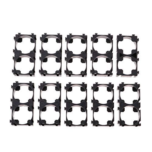 perfk 10pcs Entretoise de Batterie 18650 2 Cellules Spacer