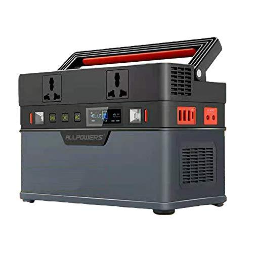 SHIN generador Solar portátil 666Wh 185200mAh estación de energía portátil Outdoor RV Camping Travel Batería del generador/Without Solar Panel