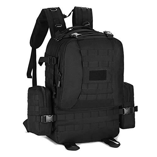 YUHAN Hiking Backpack, 50L Tactical Backpack Military Army Combat Rucksack MOLLE 15.6 inch Laptop Rucksack Trekking Backpack Black