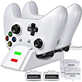 ESYWEN Controller Charger for Xbox One&Xbox Series X|S(Fits, Charging Station for Xbox Series X|S/One/X/One S/One Elite, Charger Station with 2x1200mAh Rechargeable Battery Packs-Upgraded