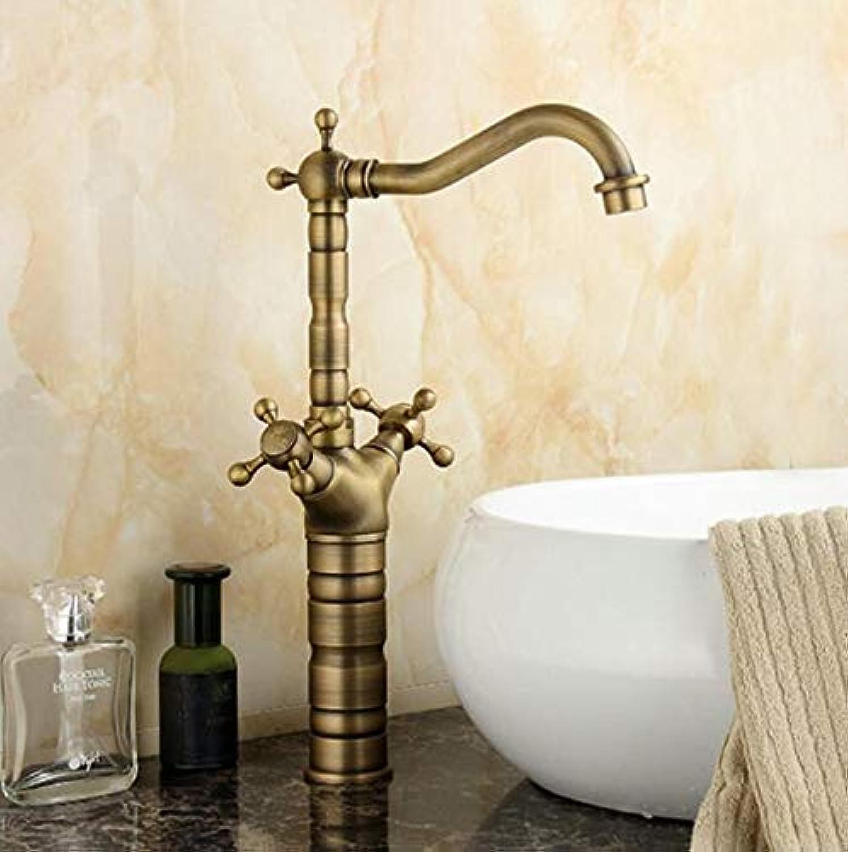15  Antique Brass Kitchen Swivel Faucets Sink Bathroom Basin Faucet Mixer Tap 9056A