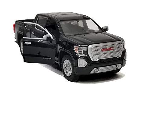 Motormax 2019 GMC Sierra 1500 Denali Crew Cab Pickup Truck Black 1/24-1/27 Diecast Model Car 79362