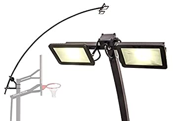 Goalrilla LED Basketball Hoop Light Illuminates backboard Rim and Court and Fits All Goalrilla and Other In-Ground Hoops