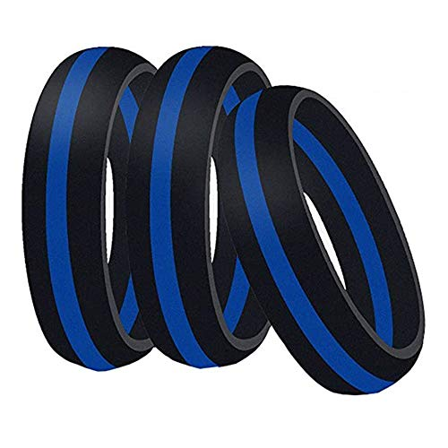 Merlinae Silicone Wedding Band Ring, 3 Pack for Men and Women,Rubber Ring Band is Flexible and Comfortable (Men,Size 9)