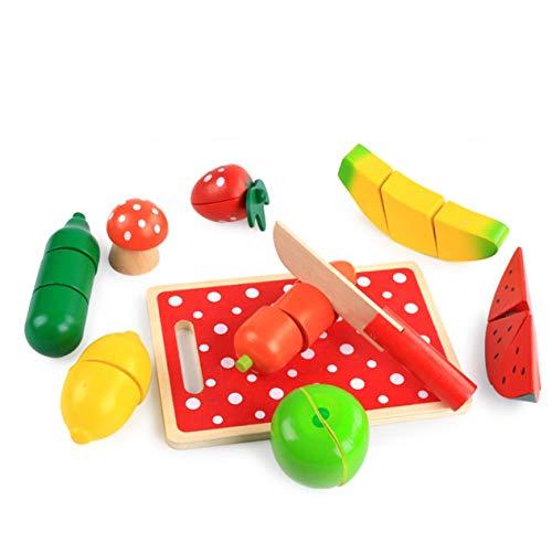 Vegetales Frutas Cortadas Juguetes Niños Juegos de rol Juguetes educativos Juguetes de Frutas Cortadas Color Frutas Vegetales Interesante (Colorido) -BCVBFGCXVB